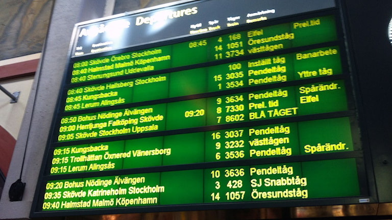 Tågförseningar