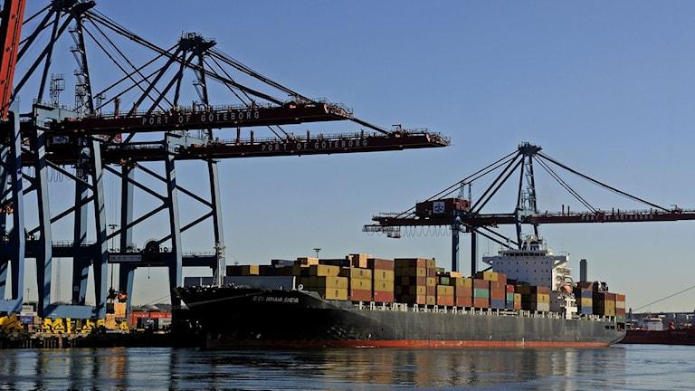 Göteborgs hamn, hamn, container, last