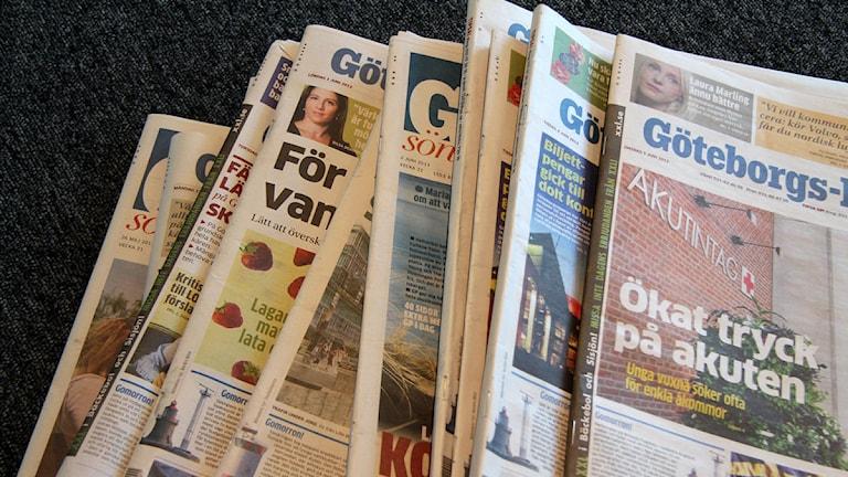 Tidningen GP. Foto: Johanna Storm/Sveriges Radio P4 Göteborg