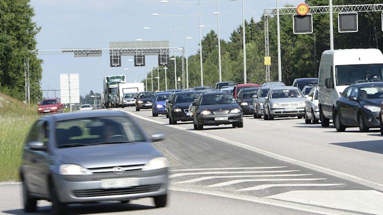 Trafikerad motorväg. Foto: Maja Suslin/Scanpix