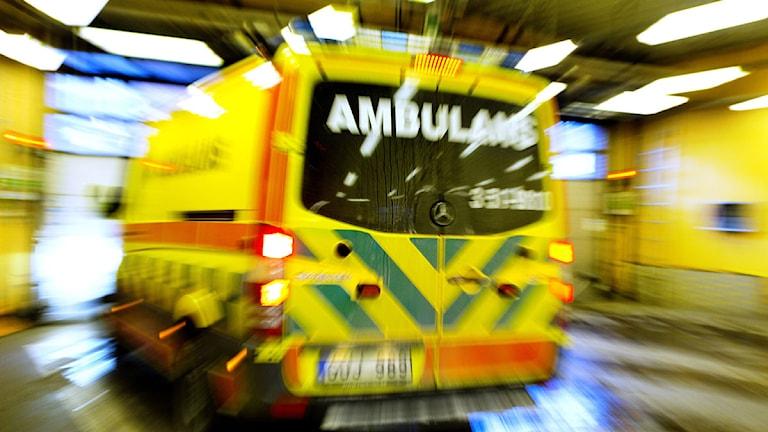 Ambulansintaget. Foto: Marie Ullnert/Sahlgrenska universitetssjukhuset