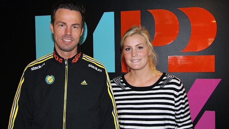 Henrik Signell och Ida Odén. Foto: Johanna Storm/P4 Sveriges Radio Göteborg