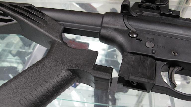 Vapnet på bilden kommer från ett annat sammanhang. Foto: AP Photo/Allen Breed/TT