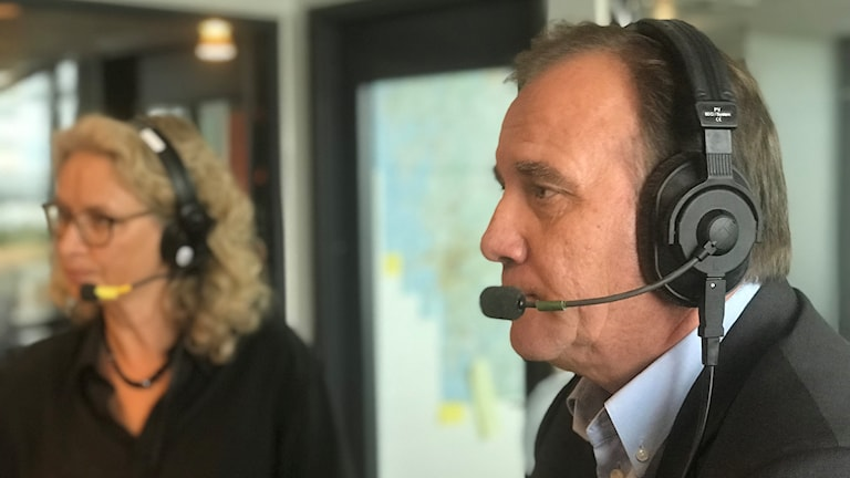 Statsminister Stefan Löfven under intervjun i P4 Göteborgs studio under onsdagen.