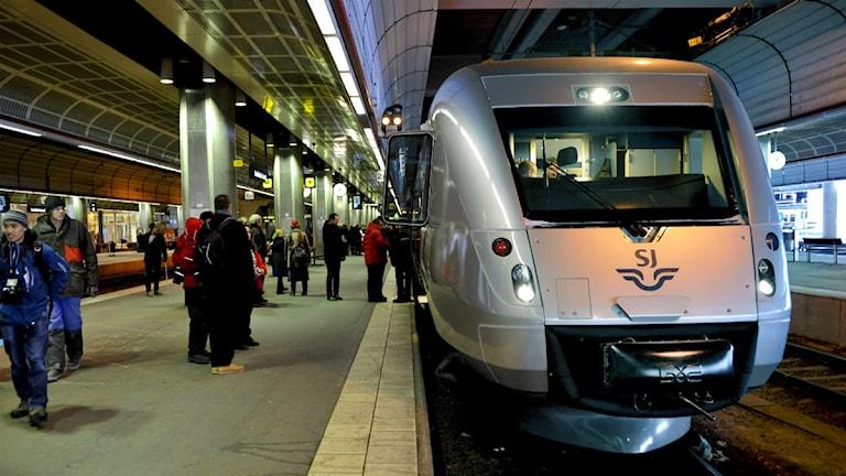 Det blir förseningar hela dagen när det gäller snabbtågen mellan Göteborg och Stockholm. Foto: Pontus Lundahl/TT