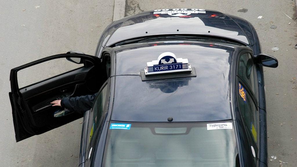 Taxi Kurir kör största delen av färdtjänstturerna i Göteborg. Foto: Hasse Holmberg/Scanpix