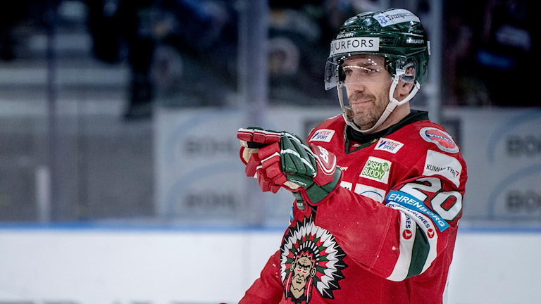Joel Lundqvist från torsdagens segermatch mot Brynäs.