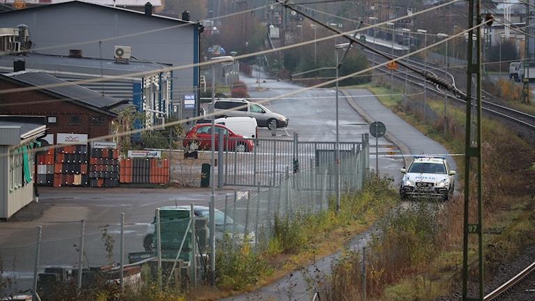 Industriområdet där skottlossningen skedde i en lokal.