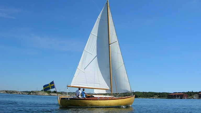 Den K-märkta segelbåten Fuga. Foto: Ove Germundsson