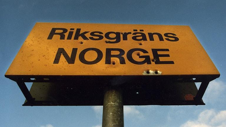 Norska gränsen Norge gräns riksgräns