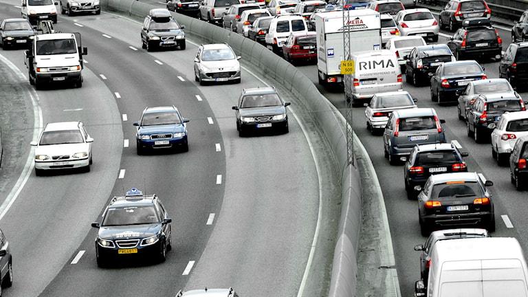 Bilköer - arkivbild. Foto: Ingvar Karmhed/TT