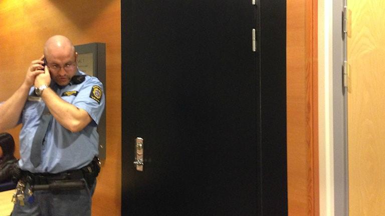 Rättegången mot kriminella nätverk fortsatte på onsdagen. Foto: Erica Hedin /Sveriges radio