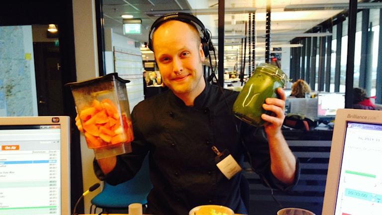 Raw food kocken Viktor Ingemarsson.