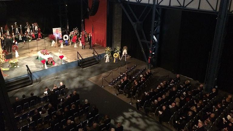 Göran Johanssons begravningsceremon i Eriksbergshallen. Foto Josipa Kesic/SR
