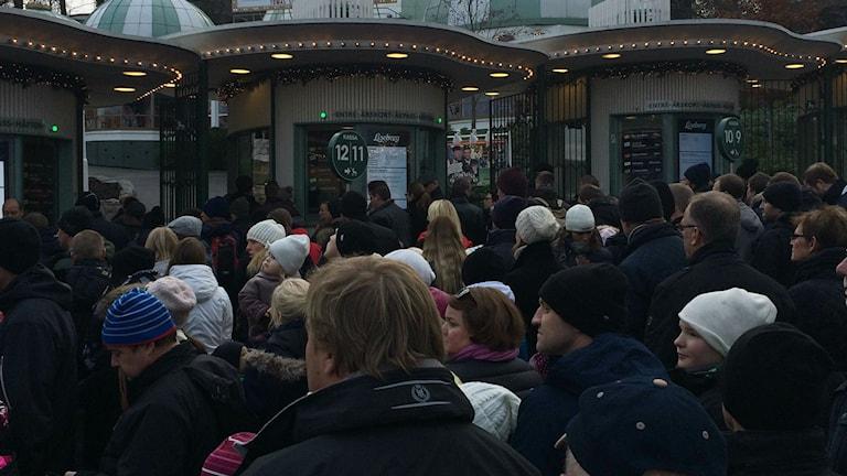 I väntan på att komma fram till biljettluckorna Foto: Josipa Kesic SR/P4 Göteborg
