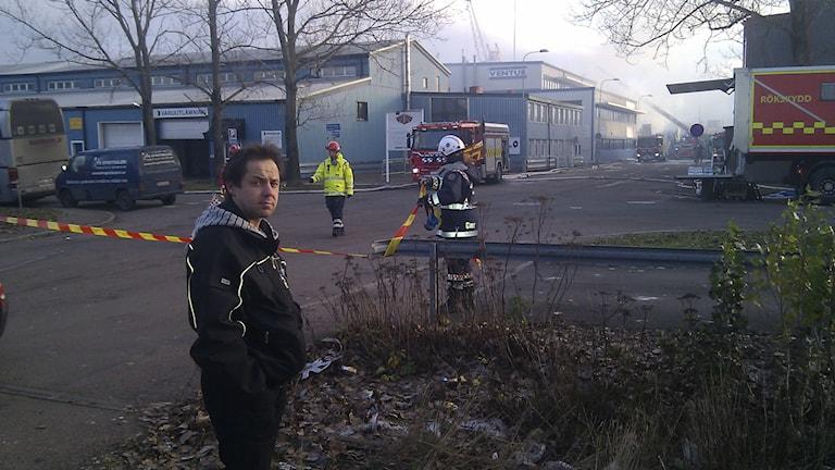 Niklas Berglunds livsverk försvann i branden på Ringön. Foto: Epp Anderson