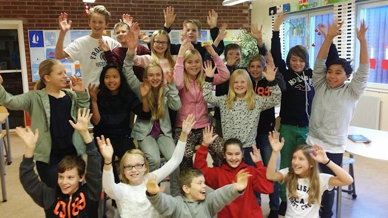 Noleredsskolan 5 A i kvartsfinal Vi i femman 2015