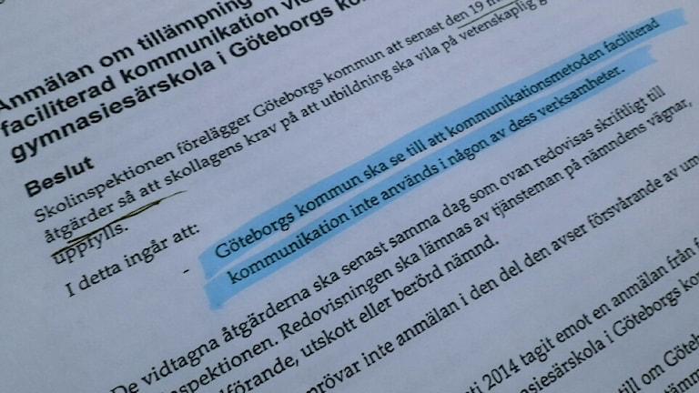 För första gången har Skolinspektionen tagit beslut om metoden faciliterad kommunikation. Foto: Andreas Kron