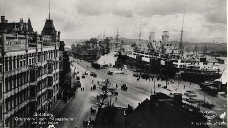 Atlantångare i Göteborgs hamn