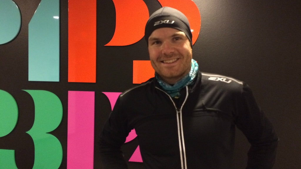 Oscar Olsson tipsade om hur nyårslöftet bäst hålls. Foto: Peo Wenander /Sveriges radio