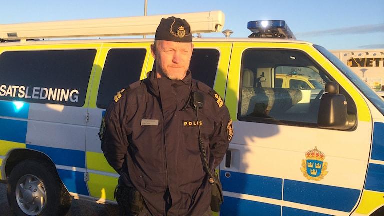 Yttre polisbefäl Claes Thorén. Foto Carina Holmberg