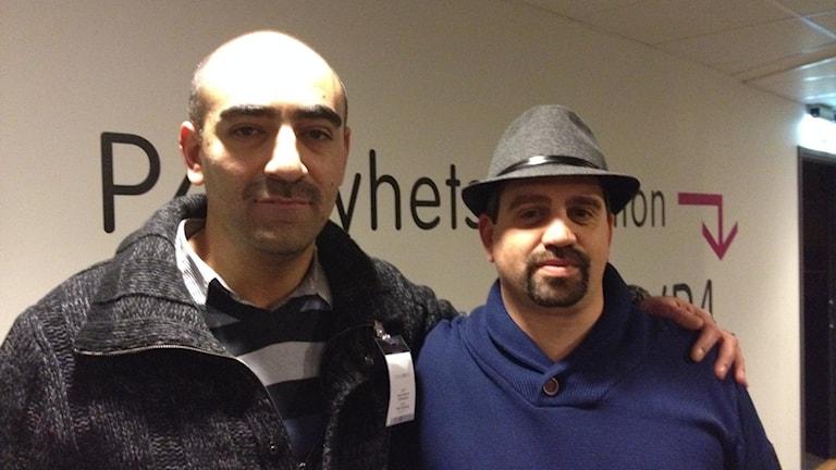 Khodor Semmo, till vänster och Michell Alfredsson.Foto Madeleine Blidberg