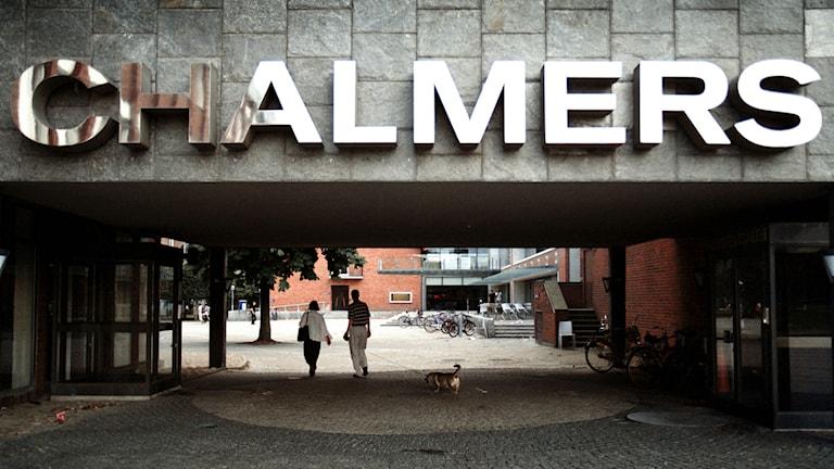 Närbild av porten i på Chalmersomrdået. Foto: Fredrik Persson/TT BIld
