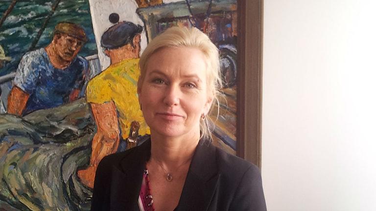 Infrastrukturminister Anna Johansson (S) Foto: Lasse Nilsson/SR