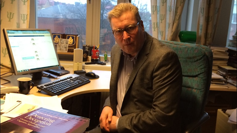 Psykologiprofessor Pär Anders Granhag. Foto: Hugo Hellman/Sveriges Radio
