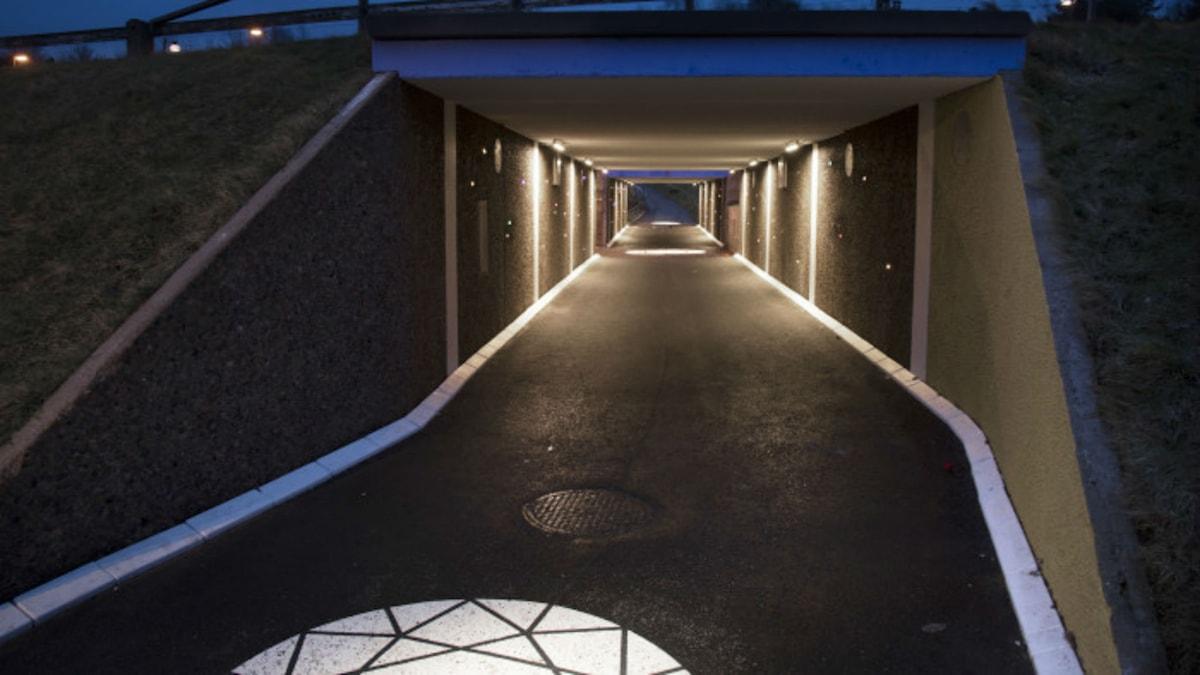 Upprustade gångtunnlar i Tynnered. Foto: Göteborg Energi