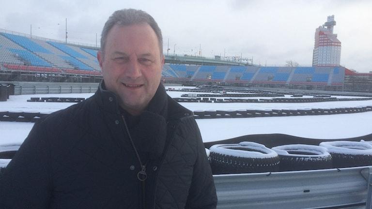 Thomas Lindskog, vd Göteborg city arena där det nu är slutkört för STCC. Foto: Peter Stenberg/SR