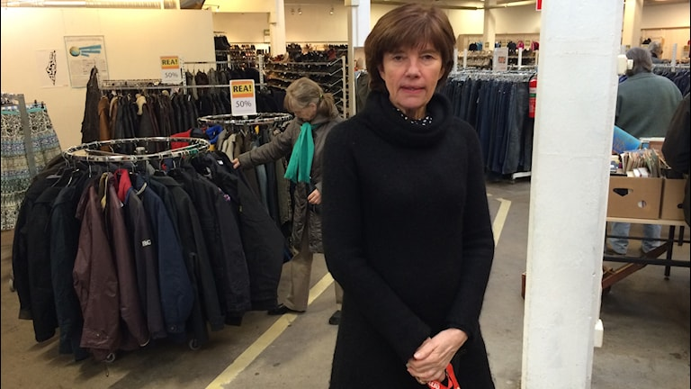 Linda Hamberg, föreningschef för Emmaus Björkå. Foto: Hugo Hellman/Sveriges Radio