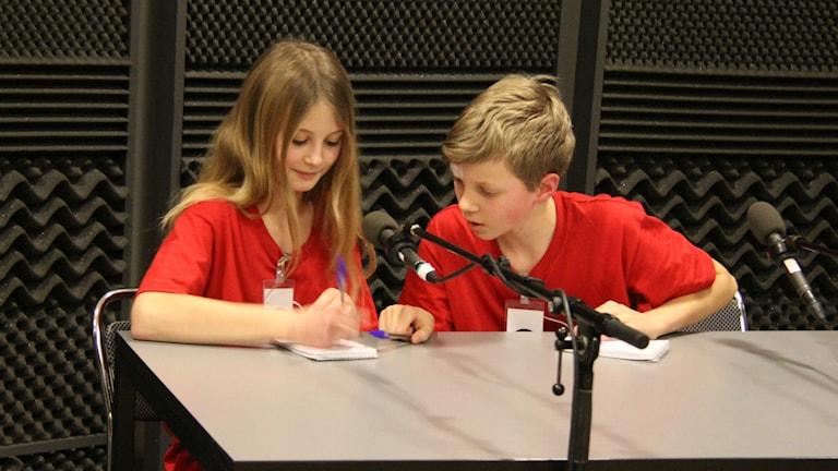 Anna och Axel samarbetade bra i den lokala finalen. Foto: Madeleine Blidberg
