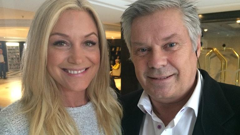 Jessica Andersson, tävlingens mesta Melodifestivaldeltagare hos Hasse Andersson. Foto: Susanne Ehlin /P4 Göteborg