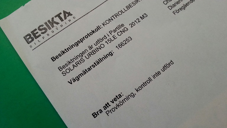 Över 40 protokoll som P4 Göteborg gått igenom avslöjar att provkörning inte gjorts. Foto: Andreas Kron / Sveriges Radio