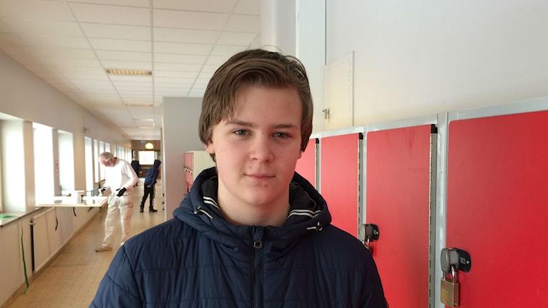 Robin Gutierrez menar att det finns mycket skojbråk på hans skola Foto: Josipa Kesic/Sveriges radio