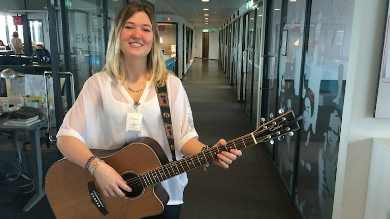 Lisa Forsman från Vallda satsar på musiken. Foto: Susanne Ehlin /P4 Göteborg