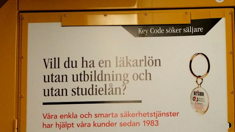 Key Code reklamsäljare telefon telefonförsäljning