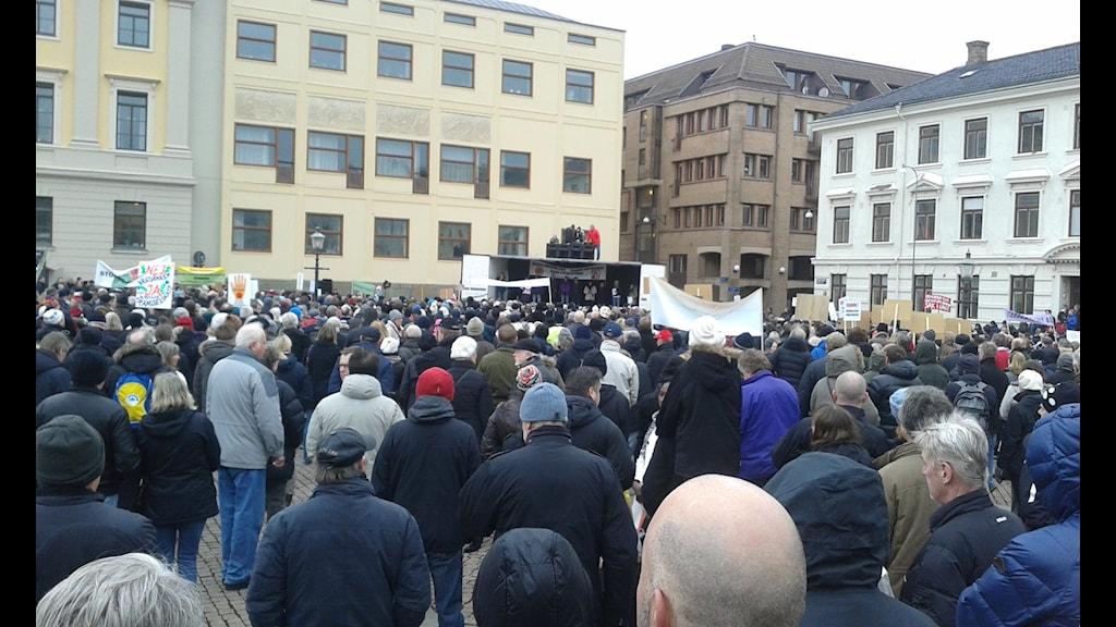 Protesten vid Gustav Adolfs torg
