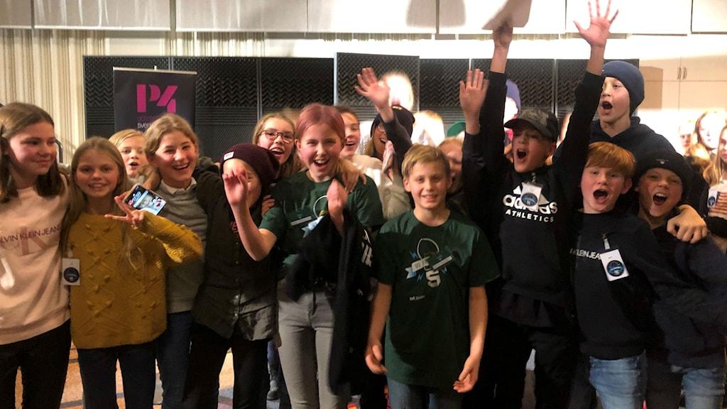 Brottkärrsskolan vinnare i den första kvartsfinalen av Vi i femman.