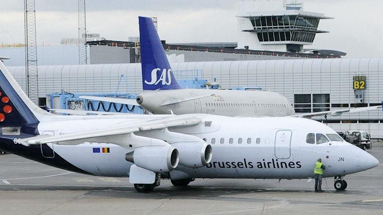 Flygplan på Landvetter flygplats.  Foto: Johan Nilsson / SCANPIX