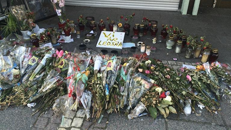 Två personer miste livet i skottlossningen på restaurangen på Vårväderstorget i mars. Foto: Josipa Kesic/Sveriges radio