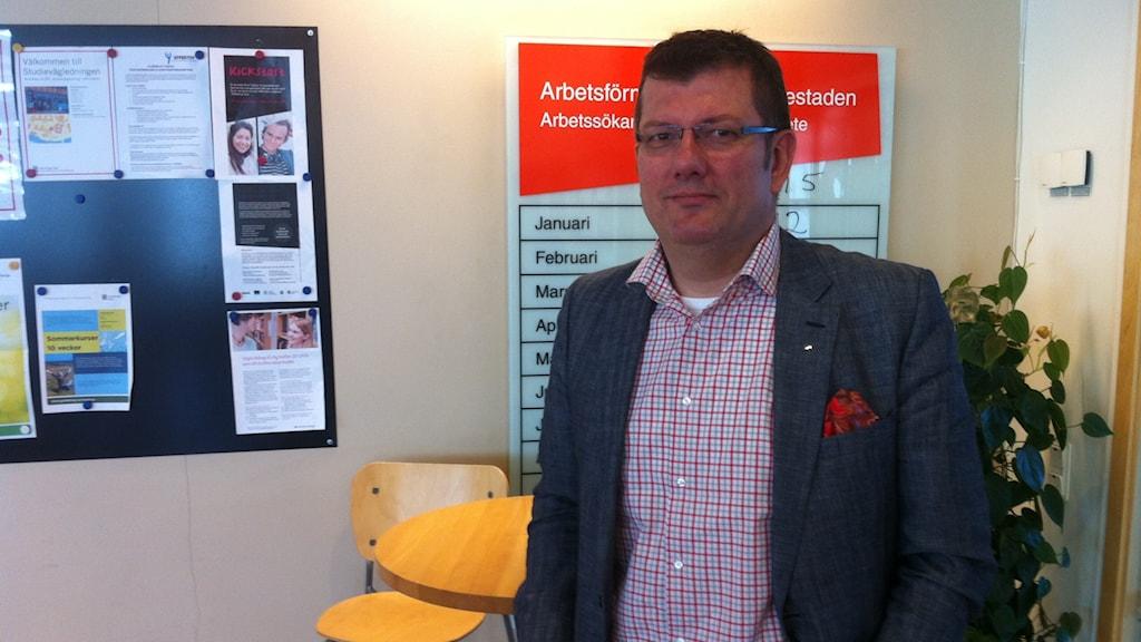 Samir Rajic, Arbetsförmedlingschef i Gamlestaden Foto:Markus Bergfors/Sveriges Radio