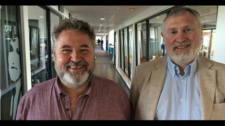 Mats Persson och Christer Ranch svarar på frågor om juridik i vår vardag. Foto: Susanne Ehlin /P4 Göteborg