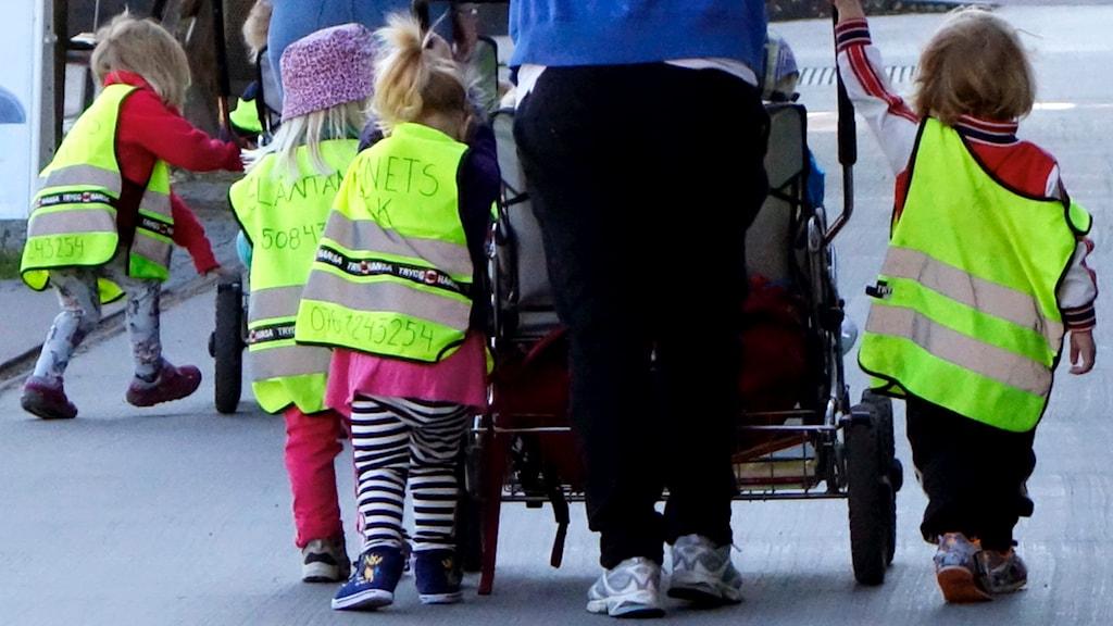 Förskolan i Majorna-Linné riskerar att drabbas av nya besparingar. Foto: Hasse Holmberg/TT