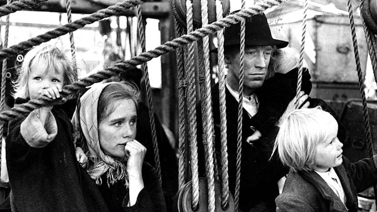 Liv Ullmann som Kristina och Max von Sydow som Karl Oskar i Jan Troells film 'Utvandrarna'. Foto TT:s bildbyrå