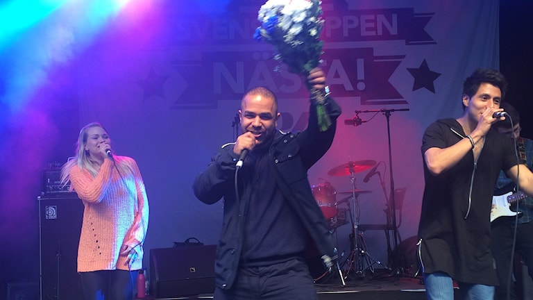 Kamal Javanmiri som kallar sig Jawone vann med låten Främling. Foto: Susanne Ehlin/P4 Göteborg