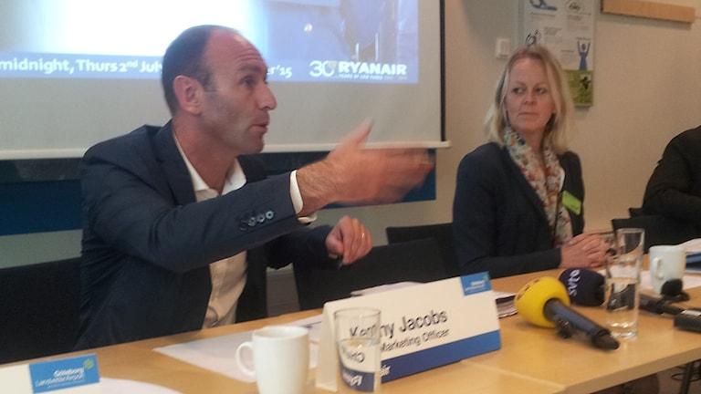 Kenny Jacobs marknadschef Ryanair. Foto: Lasse Nilsson/SR