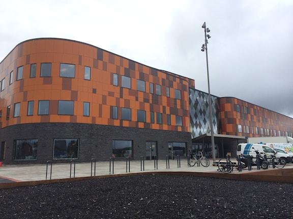 Göteborgs Nya Arena - multisport-arenans utsida. Foto: Simon Rissvik/sverigesradio