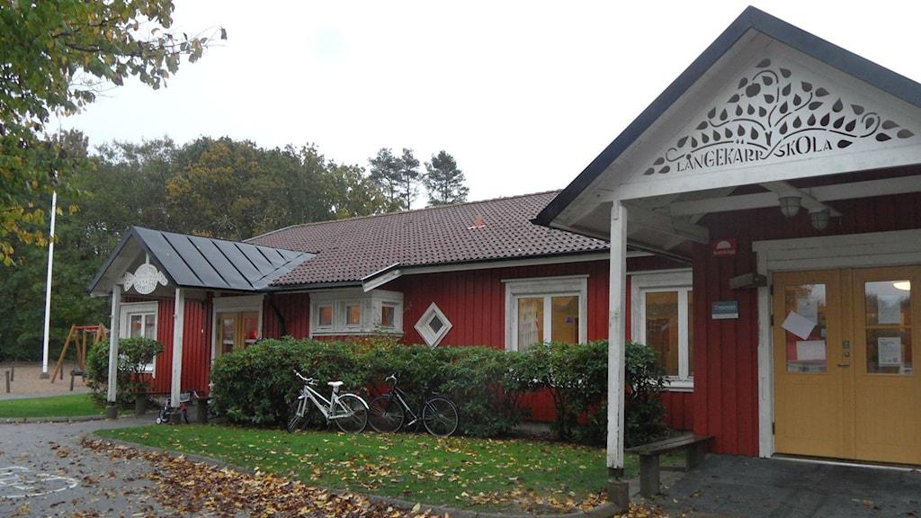 Långekärrs skola. Bild: Privat